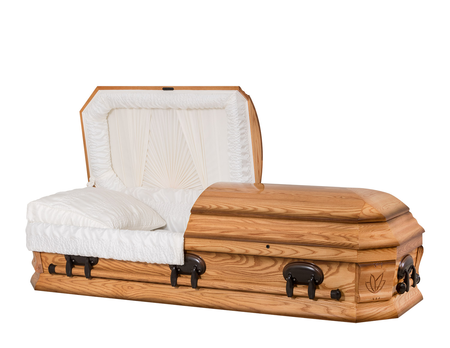 Concept Caskets 42224-00034-N ASH CASKET POLISHED  CREPE  MEDIUM  WOOD FIBER NO H1111-4    3 X 1 BRONZE