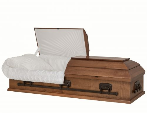Concept Caskets 10015-00002-N POPLAR CASKET SATIN  TAFFETA MEDIUM  WOOD FIBER NO 900    3 X 1 BRONZE