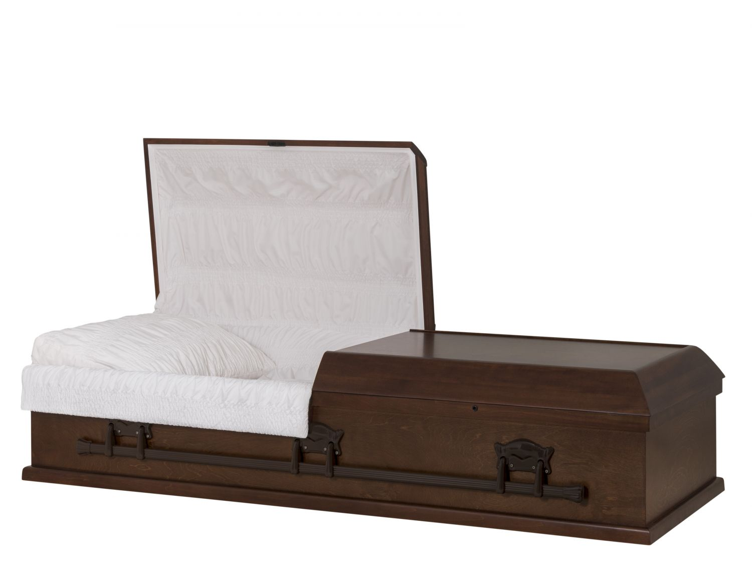 Concept Caskets 10U15-00010-N POPLAR CASKET OPEN GRAIN TAFFETA SOUTH MAHOGANY WOOD FIBER NO 909    3 X 0 BRONZE