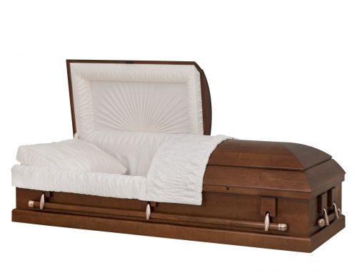Concept Caskets 12215-00249-N POPLAR CASKET OPEN GRAIN  CREPE  TIERRA  ADJUSTABLE BED YES W1A32X-1    3 X 2 ANTIQUE COPPER