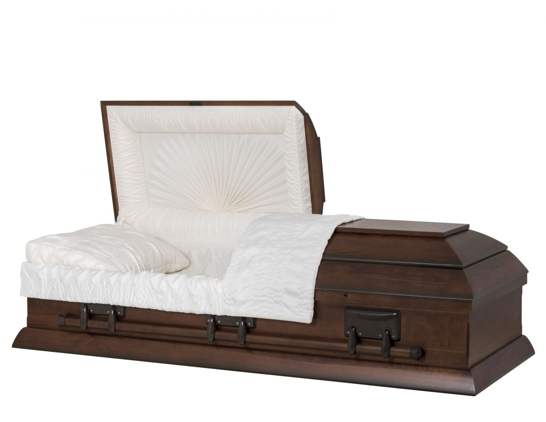 Concept Caskets 15L15-00004-N POPLAR CASKET MAT CREPE DARK WALNUT LOCATION BED NO H5001-1    3 X 0 BRONZE