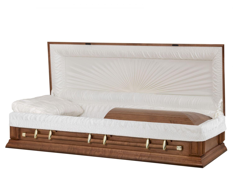Concept Caskets 17F28-00012-N POPLAR CASKET POLISHED CREPE MEDIUM LOCATION BED NO W1460G-1    6 X 0 GOLD