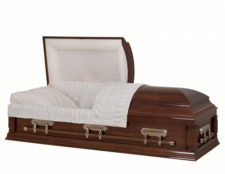 Concept Caskets 18204-00722-N POPLAR CASKET GLOSS  CREPE  CHERRY  ADJUSTABLE BED YES H2110-1    3 X 1 COPPER