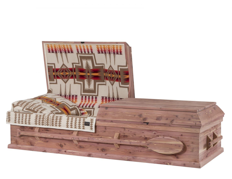 Concept Caskets 30W15-00002-N CEDAR CASKET NATURAL  WOOLEN NATURAL  WOOD FIBER NO WOOD STATIONNARY