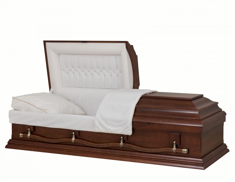 Concept Caskets 57215-00170-N CHERRY CASKET MAT  NOVA VELVET  CHERRY  MATRESS YES E3540W-5     4 X 0 ANTIQUE GOLD