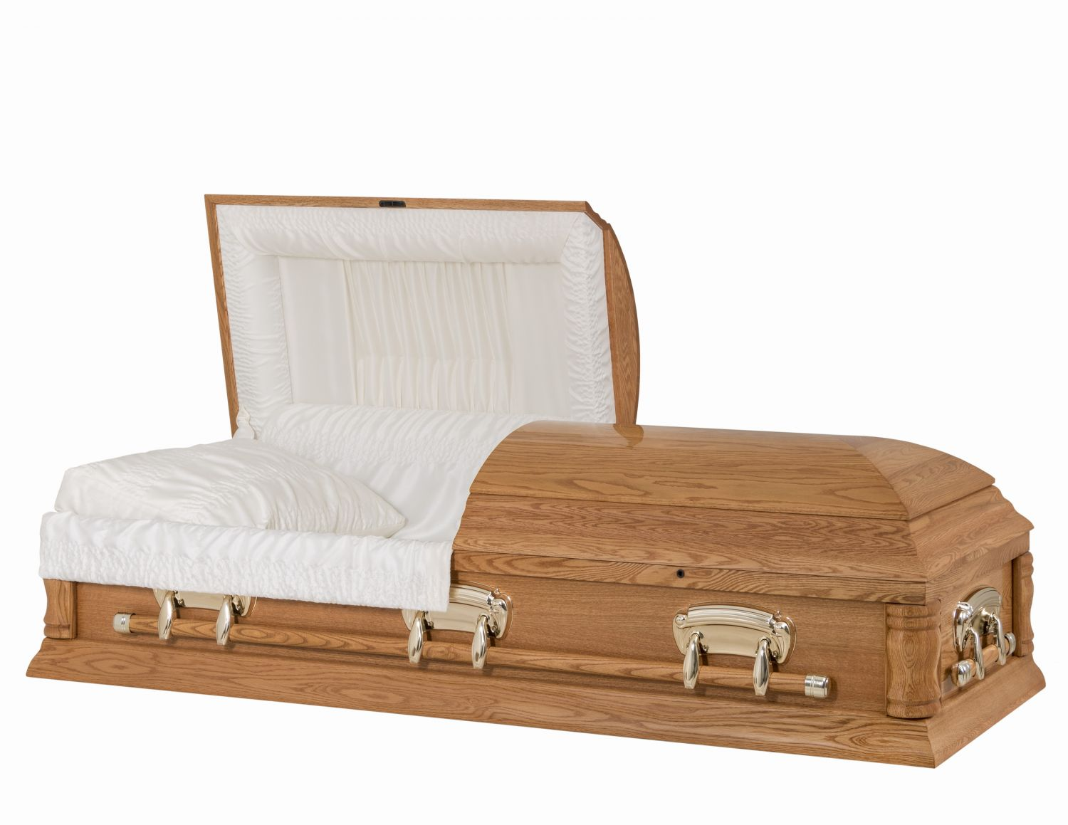 Concept Caskets 65U39-00001 OAK CASKET POLISHED CREPE MEDIUM WOOD FIBER NO H1306-6    3X 1 GOLD