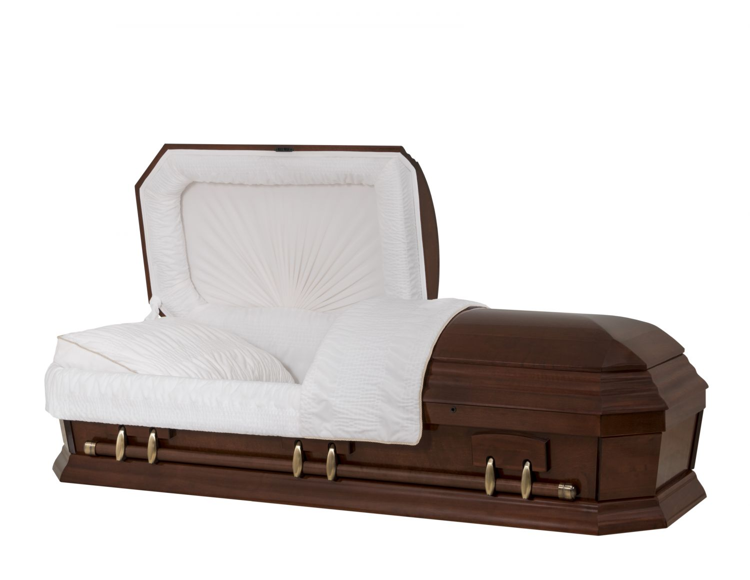 Concept Caskets 28262-00502-N POPLAR CASKET POLISHED NOVA VELVET CHERRY MATRESS YES W1260W-1    6 X 0 ANTIQUE GOLD