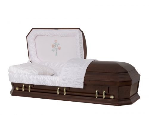 Concept Caskets 28267-00046-N POPLAR CASKET POLISHED CREPE CHERRY MATRESS YES W1260G-1    6 X 0 ANTIQUE GOLD