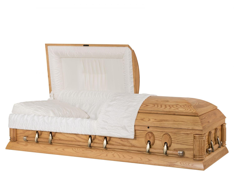 Concept Caskets 40204-00063-N ASH CASKET OPEN GRAIN CREPE MEDIUM ADJUSTABLE BED YES W1462W-4    6 X 2 ANTIQUE GOLD