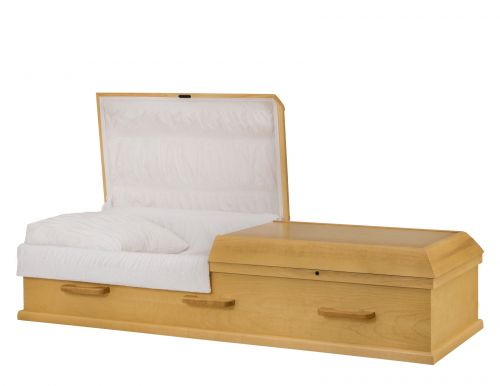 Concept Caskets 10215-00091-N POPLAR CASKET OPEN GRAIN TAFFETA LIGHT MAPLE WOOD FIBER NO WOOD STATIONNARY
