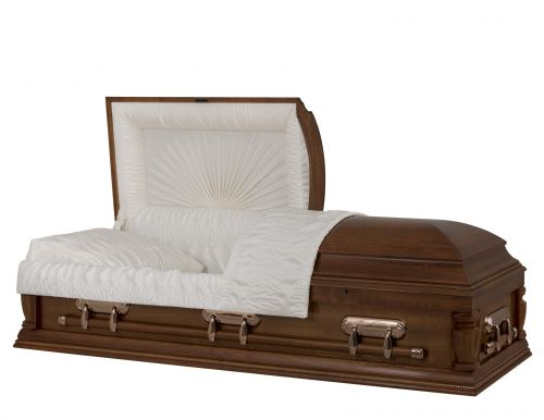 Concept Caskets 18276-00001-N POPLAR CASKET GLOSS CREPE NECTAR ADJUSTABLE BED YES H2110-1    3 X 1 COPPER