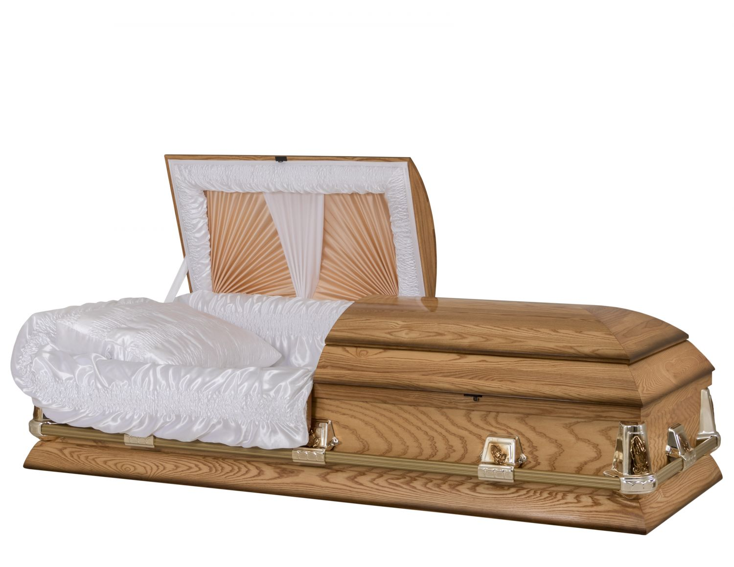 Concept Caskets 40000-00271-N ASH CASKET GLOSS SATIN MEDIUM WOOD FIBER NO B9905 BUMPER    3 X 1 BRIGHT GOLD