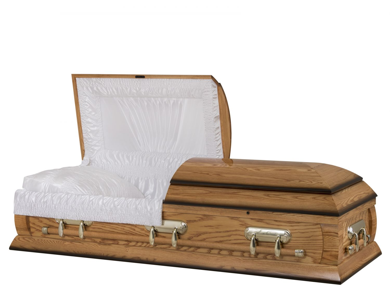 Concept Caskets 40216-00031-N ASH CASKET POLISHED SATIN MEDIUM WOOD FIBER NO H2510S-4    3 X 1 BRUNTONE