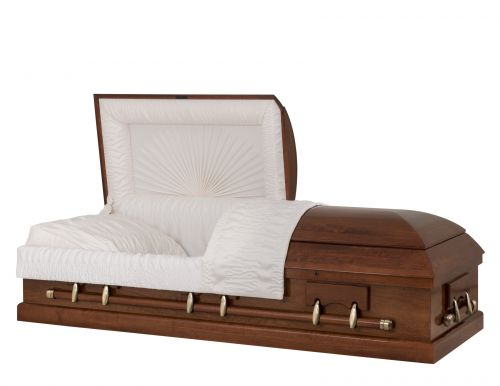 Concept Caskets 12215-00310-N POPLAR CASKET GLOSS CREPE CHERRY ADJUSTABLE BED YES W1462W-1    6 X 2 ANTIQUE GOLD