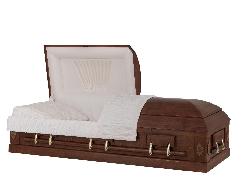 Concept Caskets 12263-00001-N POPLAR CASKET POLISHED CREPE AUBURN ADJUSTABLE BED YES W1462G-1T    6 X 2 OR  NO TIP