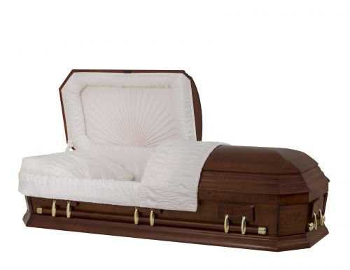 Concept Caskets 28267-00045-N POPLAR CASKET POLISHED CREPE CHERRY MATRESS YES W1262G-1    6 X 2 GOLD