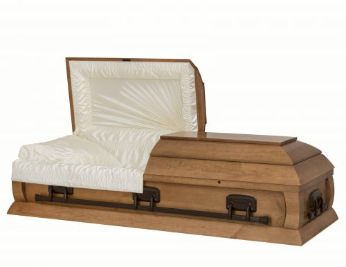 Concept Caskets 15216-00138-N POPLAR CASKET GLOSS  SATIN  HONEY  WOOD FIBER NO 900    3 X 1 BRONZE