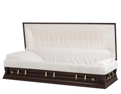 Concept Caskets 08934-00001 MAPLE CASKET POLISHED NOVA VELVET SOUTH MAHOGANY ADJUSTABLE BED NO W1462W-0    6 X 2 ANTIQUE GOLD