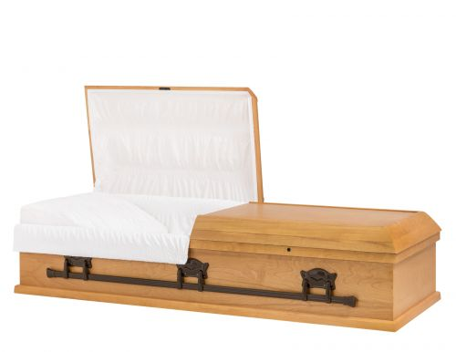Concept Caskets 10215-00104-N POPLAR CASKET OPEN GRAIN TAFFETA MAPLE WOOD FIBER NO 909   3 X 0 BRONZE