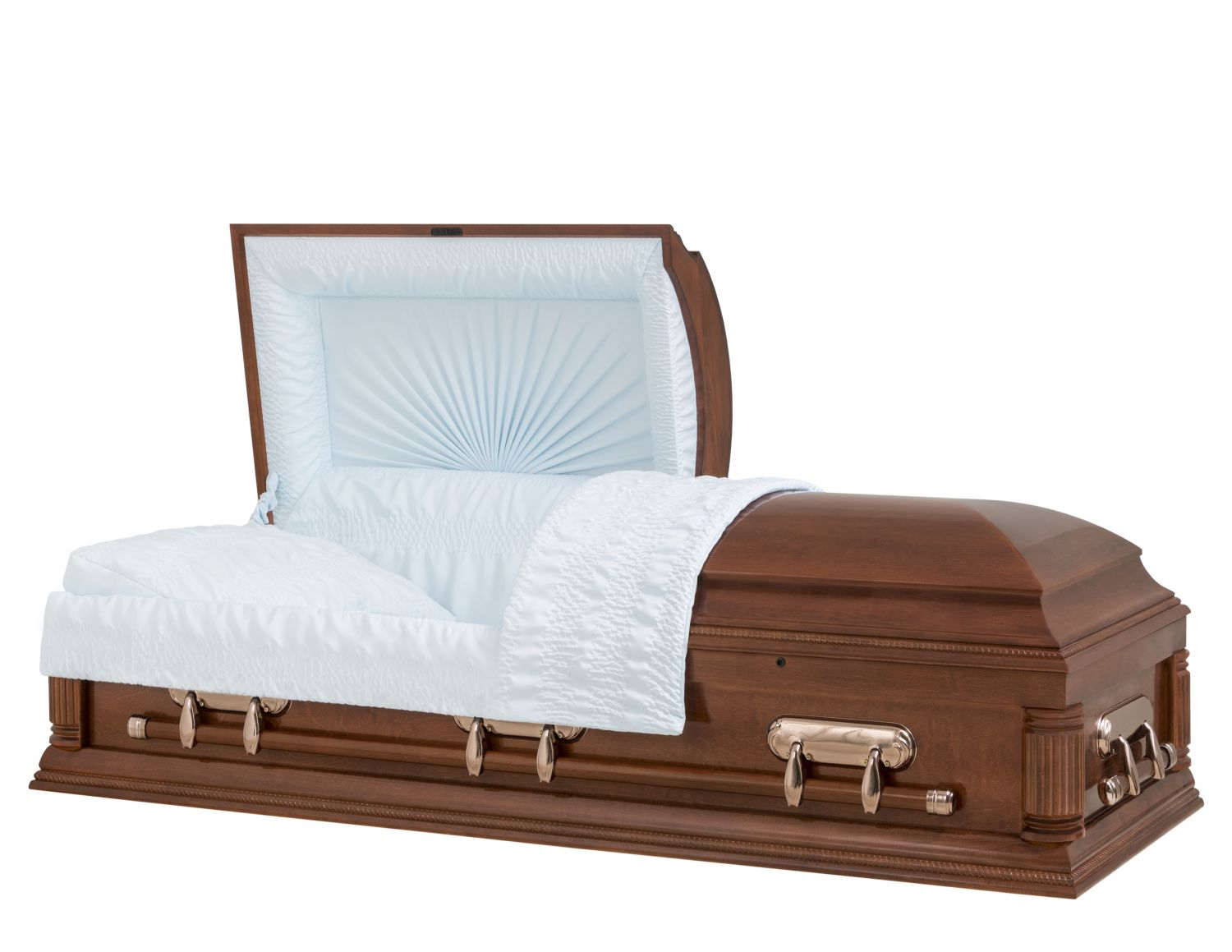 Concept Caskets 18204-00900-N POPLAR CASKET GLOSS CREPE CHERRY ADJUSTABLE BED YES H2110-1    3 X 1 COPPER