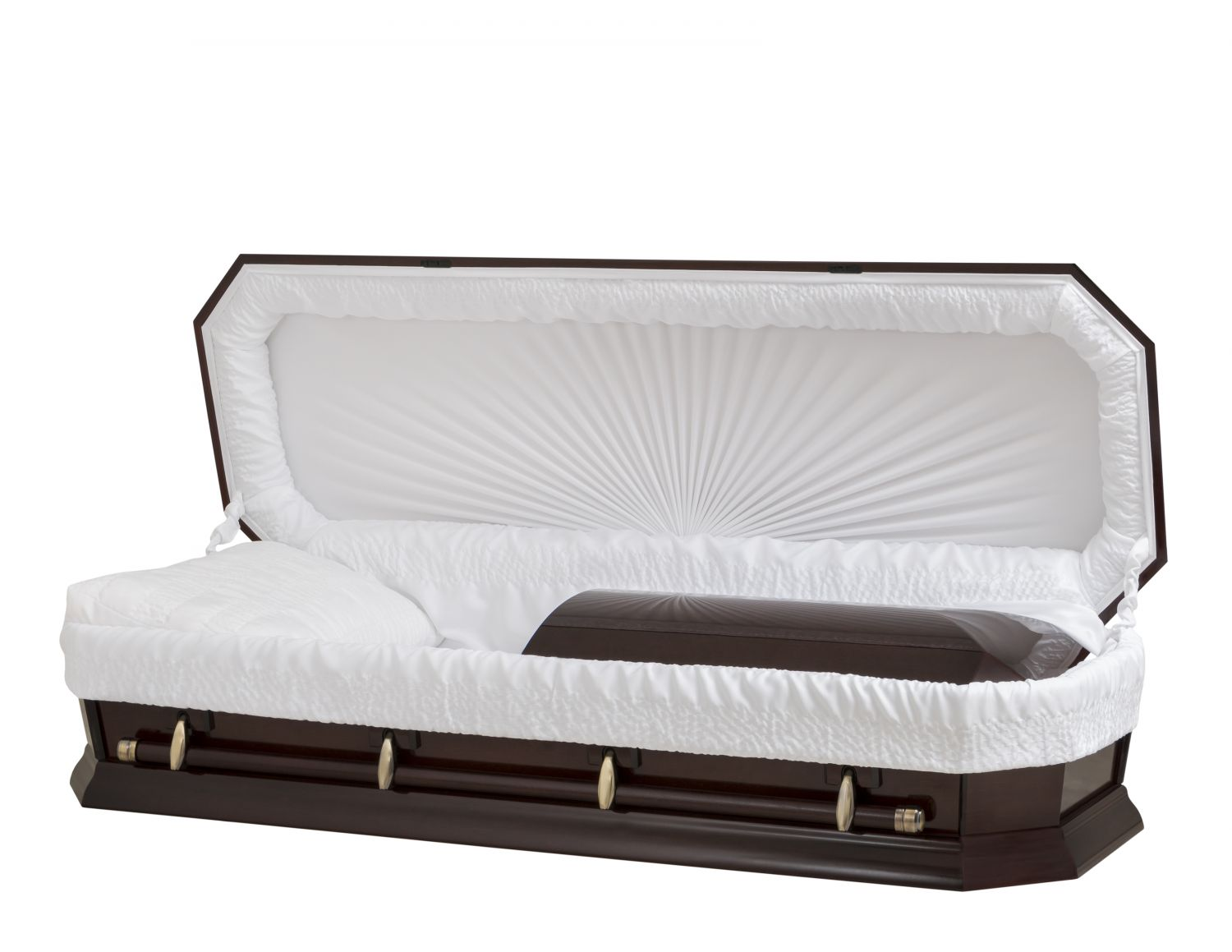 Concept Caskets 28162-00018-N POPLAR CASKET POLISHED CREPE AMARETTO MATRESS NO W1940W-1    4 X 0 GOLD