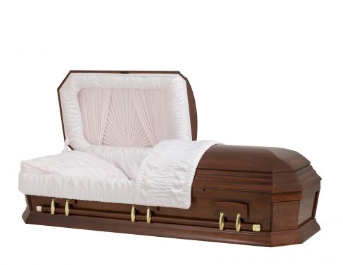 Concept Caskets 28262-00474-N POPLAR CASKET POLISHED CREPE CHERRY MATRESS YES W1260G-1    6 X 0 ANTIQUE GOLD