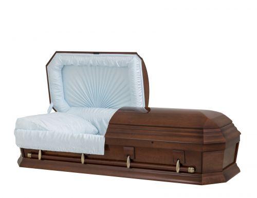 Concept Caskets 28262-00551-N POPLAR CASKET POLISHED CREPE CHERRY ADJUSTABLE BED NO W1940W-1    4 X 0 ANTIQUE GOLD