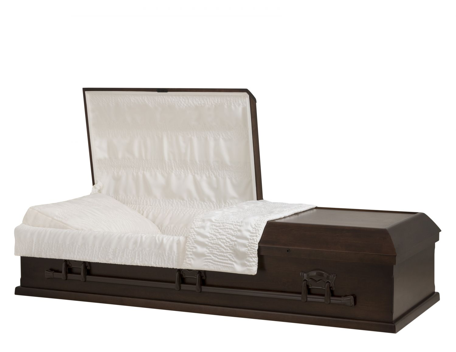 Concept Caskets 10L15-00007-N POPLAR CASKET OPEN GRAIN CREPE DARK  LOCATION BED NO 909   3 X 0 BRONZE