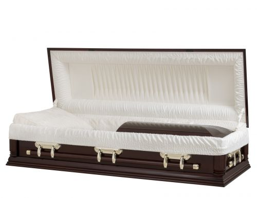 Concept Caskets 18F78-00003-N POPLAR CASKET POLISHED CREPE MAHOGANY LOCATION BED NO H2510S-1    3 X 1 BRUN TOWN