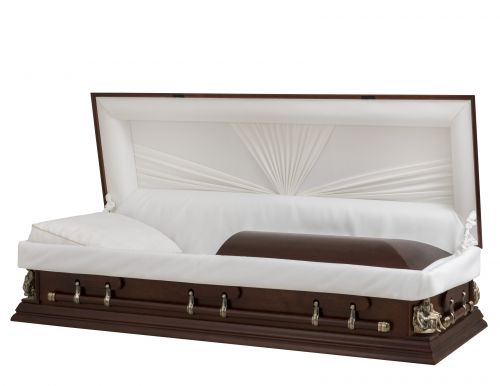 Concept Caskets 27147-00055-N POPLAR CASKET MAT BASKET WEAVE TIERRA ADJUSTABLE BED NO W1462W-1    6 X 2 ANTIQUE GOLD PIETA