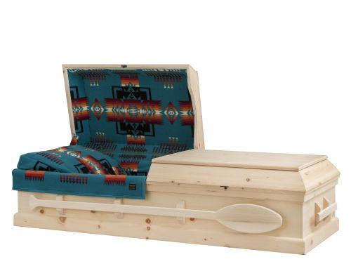 Concept Caskets 90W15-00004-N CASKET PINE NATURAL WOOLEN NATURAL WOOD FIBER NO STATIONNARY HANDLE