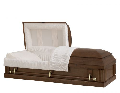 Concept Caskets 1A226-00003-N POPLAR CASKET SEMI POLISHED NOVA VELVET MEDIUM COTTON WOOD ADJUSTABLE BED YES W1A30G-1    3 X 0 GOLD