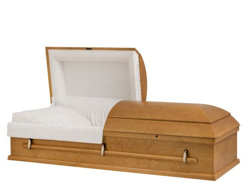 Concept Caskets 10215-00129-N POPLAR CASKET OPEN GRAIN TAFFETA TOPAZE  WOOD FIBER NO W1A30W-1T    3 X 0 ANTIQUE GOLD NO TIP