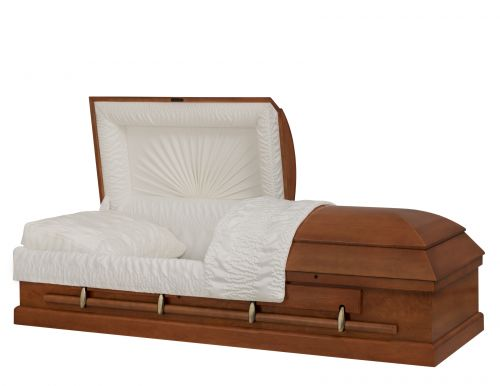 Concept Caskets 14215-00001-N POPLAR CASKET GLOSS CREPE LIGHT ADJUSTABLE BED YES W1540W-1T    4 X 0 ANTIQUE GOLD