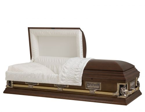 Concept Caskets 17237-00039-N POPLAR CASKET MAT CREPE NECTAR MATRESS OUI B1550-40 BUMPER    3 X 1 OR ANTIQUE PIETA / LAST SUPPER
