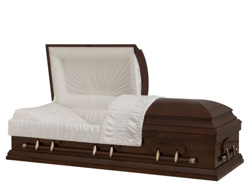 Concept Caskets 27L15-00001-N POPLAR CASKET POLISHED CREPE TIERRA LOCATION BED YES W1462W-1    6 X 2 ANTIQUE GOLD