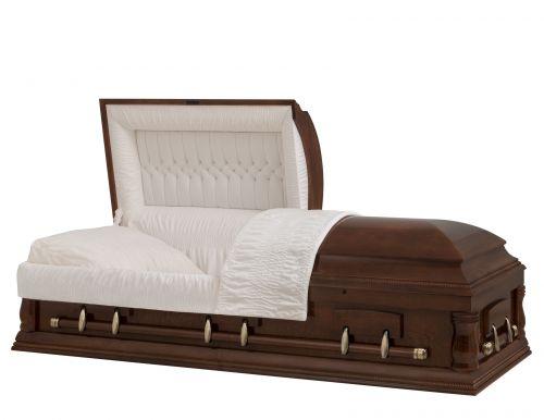 Concept Caskets 18210-00065-N POPLAR CASKET SEMI POLISHED NOVA CHERRY ADJUSTABLE BED OUI W1462W-1    6 X 2 OR ANTIQUE