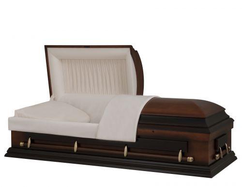 Concept Caskets 27215-00122-N POPLAR CASKET MAT NOVA VELVET CHERRY ASJUTABLE BED OUI W1542W-1    4 X 2 ANTIQUE GOLD