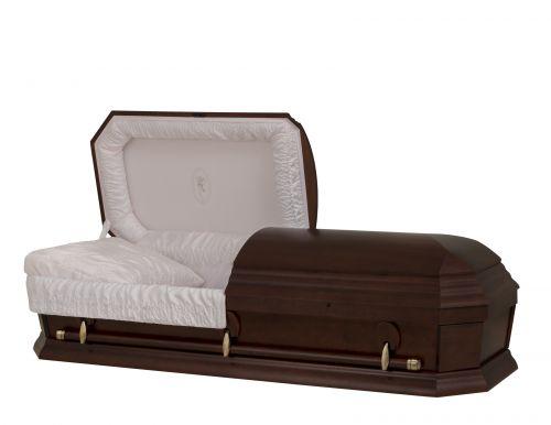 Concept Caskets 28262-00558-N POPLAR CASKET OPEN GRAIN CREPE CHERRY ADJUSTABLE BED NO W1A30W-1    3 X 0 ANTIQUE GOLD
