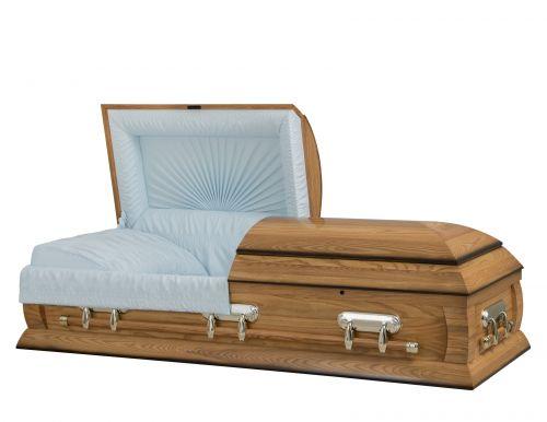 Concept Caskets 40216-00095-N ASH CASKET GLOSS CREPE MEDIUM ADJUSTABLE BED NO H2510S-4    3 X 1 BROWN TONE