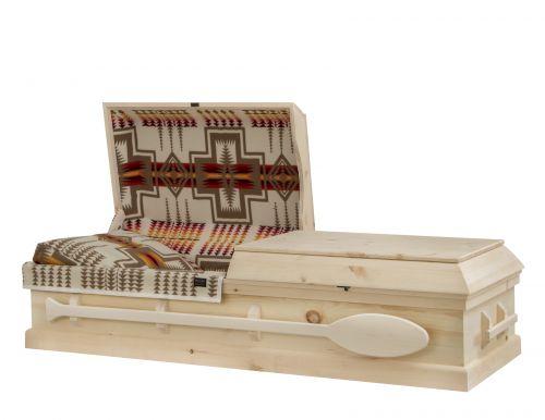 Concept Caskets 90W15-00011-N PINE CASKET NATURAL WOOLEN NATURAL MATRESS NO STATIONNARY HANDLES