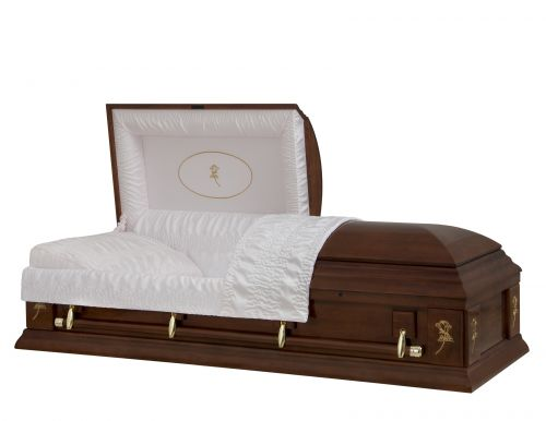 Concept Caskets 17287-00002-N POPLAR CASKET POLISHED CREPE CHERRY MATRESS YES W1540G-1    4 X 0 GOLD