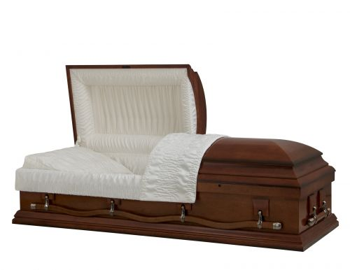 Concept Caskets 27L15-00004-N POPLAR CASKET SEMI GLOSS CREPE CHERRY LOCATION BED NO E3542W-1    4 X 2 ANTIQUE GOLD WARD