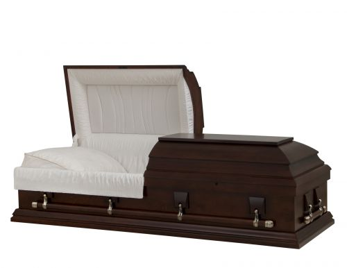 Concept Caskets 27U15-00011-N POPLAR CASKET MAT NOVA VELVET AMARETTO WOOD FIBER NO E1542W-1    4 X 2 ANTIQUE GOLD WARD
