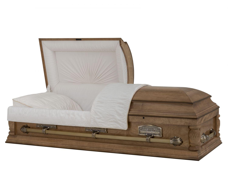 Concept Caskets 08241-00009-N MAPLE CASKET POLISHED NOVA VELVET HONEY MATRESS YES B8013RT    3 X 1 ANTIQUE GOLD